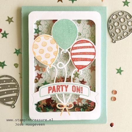 luchtballonnen schudkaart blog hop stampin up