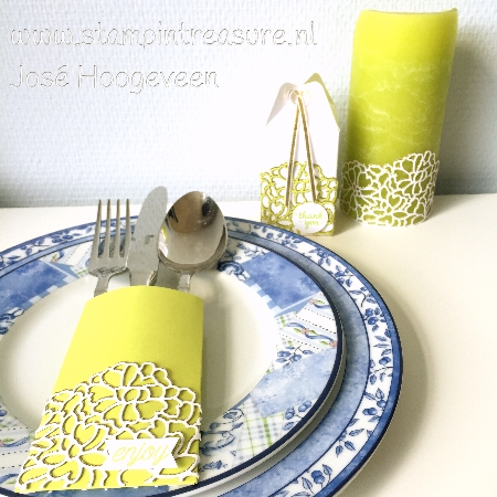 Tafel decoratie Stampin Up