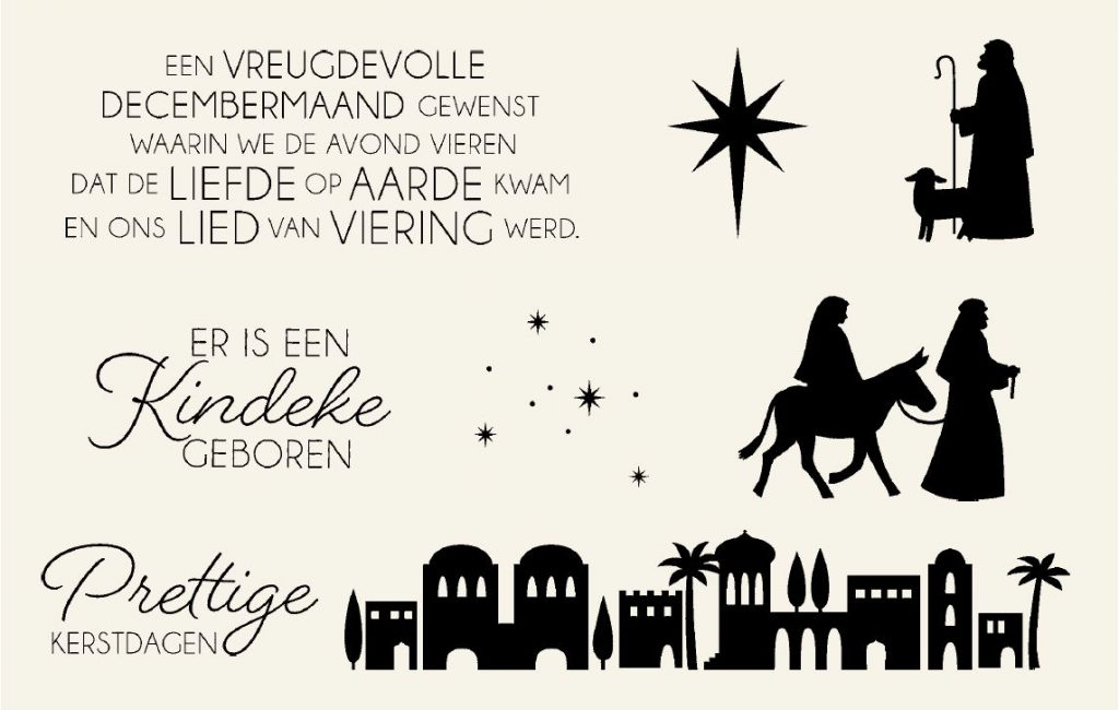 Stampin Up nederlands stempel set, Nacht in Bethlehem