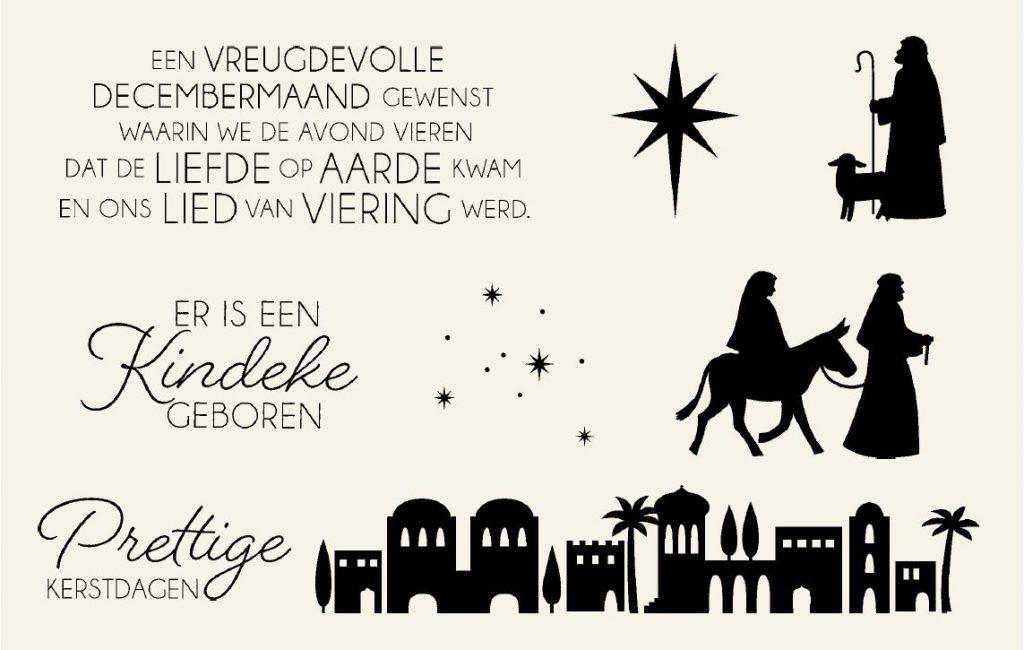 Stampin Up nederlands stempel set, Nacht in Bethlehem