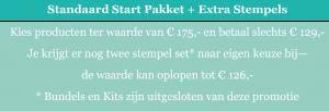 start pakket en extra stempelsets tijdens sab 2018