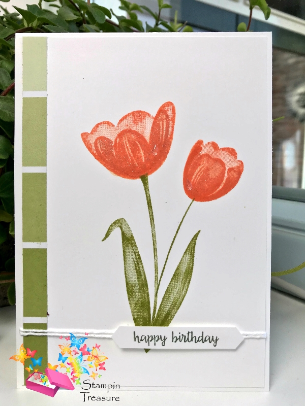 flowers and daisies, tranquil tulips Stampin Up