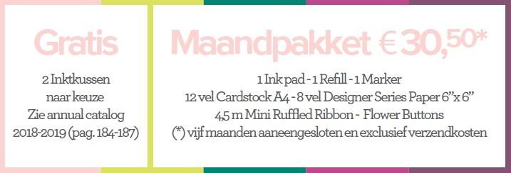 In Color collection 2017-2019 maandpakket