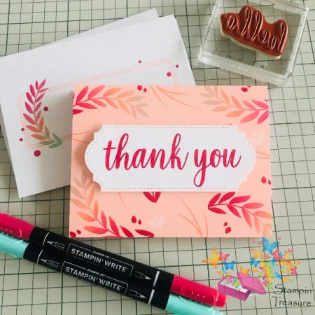 Hand Lettering Stampin Up