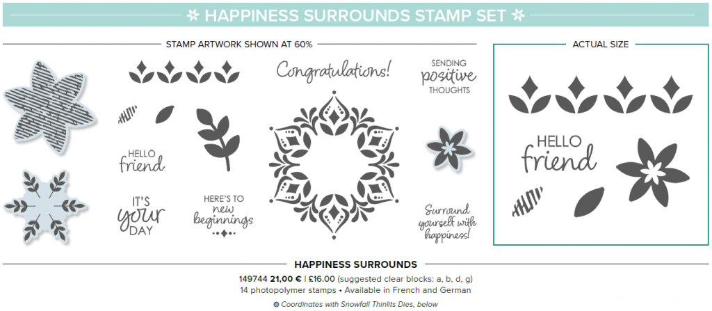 Happiness surrounds stampin up