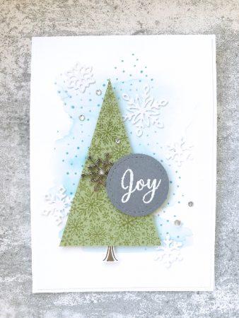 Kerstkaart met sneeuwvlokken