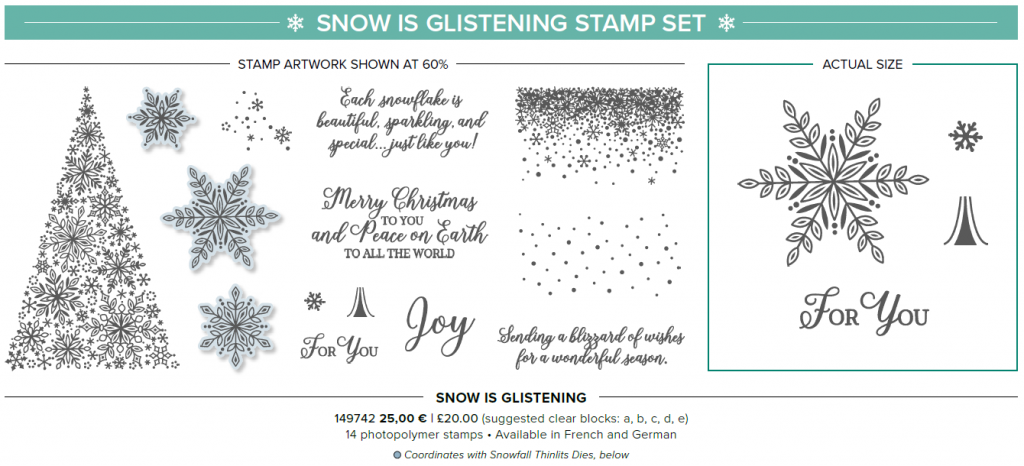 Snow is glistening stamp set stampin up